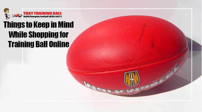 training ball online